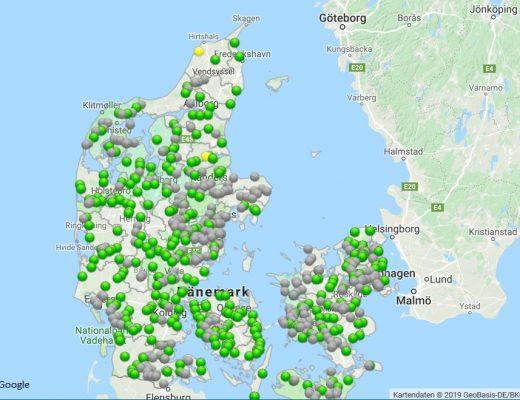 Wasserstand Dänemark